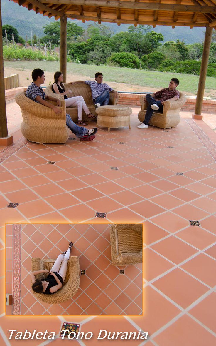 Piso en Tono Durania Formatos: 25 x 25 cm y 30 x 30 cm Ladrillera Casablanca Si lo puedes imaginar te lo podemos crear.  Naturaleza en tu espacio! www.ladrilleracasablanca.com