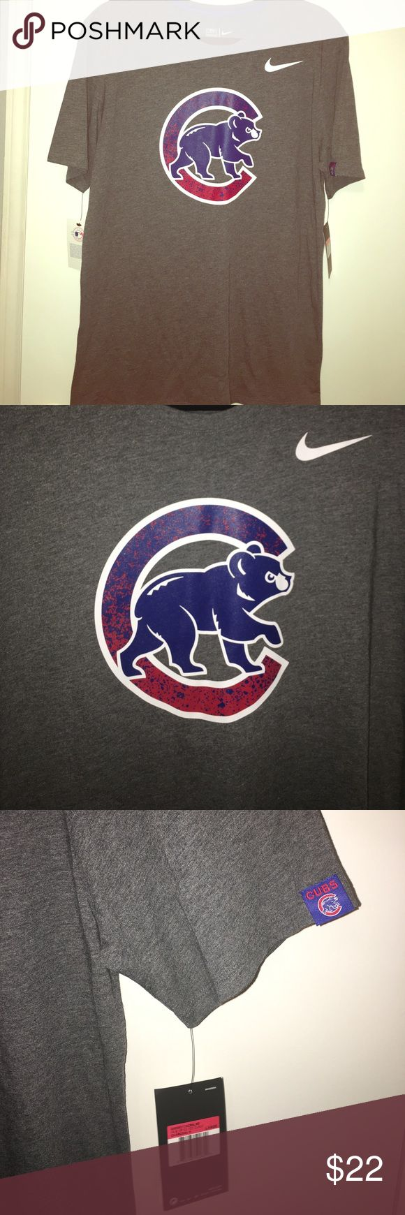 Men's Nike Chicago Cubs Tri-Blend T-Shirt Nike Men's Large Chicago Cubs tri-blend athletic cut t-shirt. Features the Cubs logo and other detail designs. Brand new with tags. Perfect condition! Nike Shirts Tees - Short Sleeve