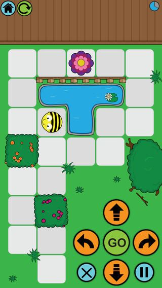 Coding/Programming - The app enables children to improve their skills in directional language and programming through sequences of forwards, backwards, left and right 90 degree turns.