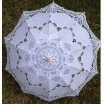 Lace Parasol Umbrella FULL SIZE, White