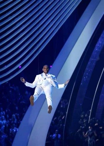 Chris Brown pendant sa prestation