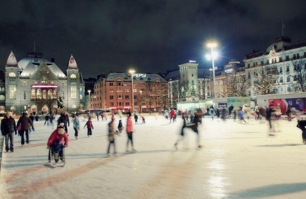 Icepark by Railway station square, Helsinki