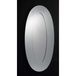 Oval shaped beveled edge mirror that would make a perfect addition to any home. This mirror can be hung both as landscape and portrait