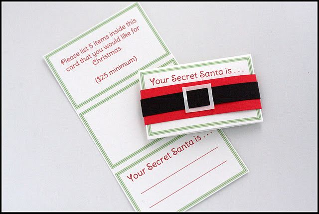 "Secret Santa Cards ... but I think they should say ""You're a Secret Santa for ...."""