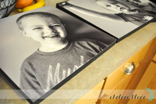 How to make fake canvas photos. Make your own for cheap instead of spending a lot to order real canvas pictures.