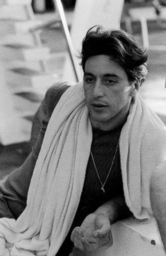 Al Pacino taking a break from filming The Godfather Part II