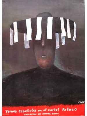 Temas Espanoles in El Cartel Polaco.   Kunstenaar : Stasys Eidrigevicius  Een uitgave uit 1990. Afmeting :  poster 92 x 65