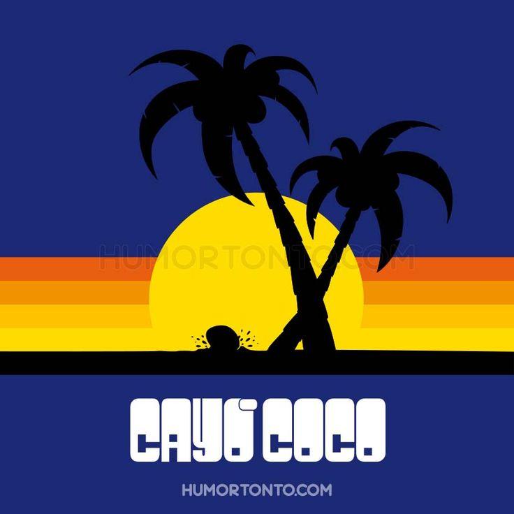 Este verano ni vacaciones... Solo queda la imaginación de dejarse caer por alguna playa paradisíaca como lo hace el coco...