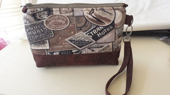 Wristlet Zipper Clutch made with Eclectic by HardyEndeavors