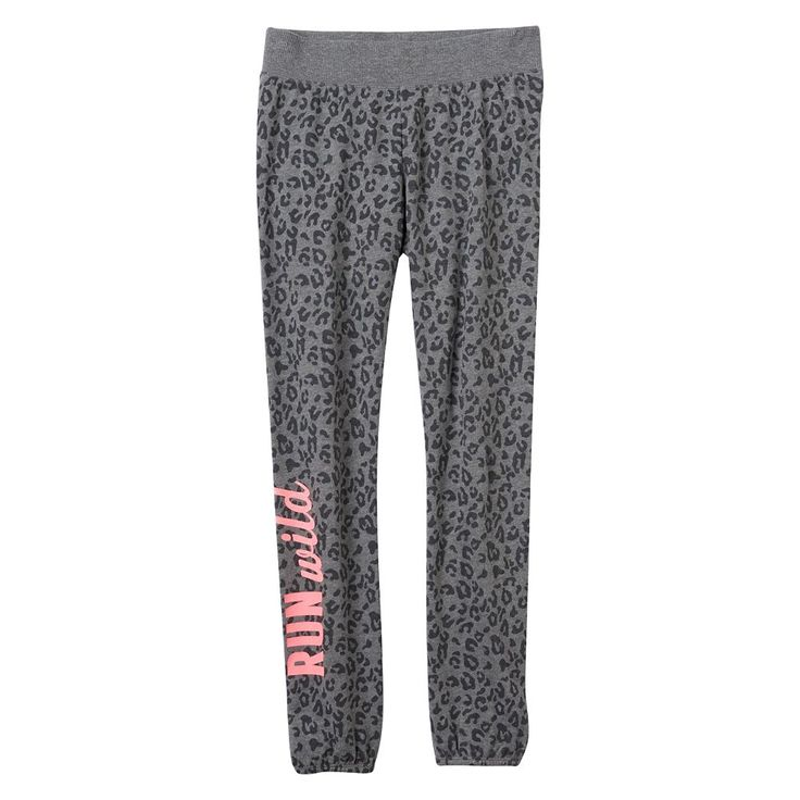 Girls 7-16 SO® French Terry Graphic Jogger Pants, Size: 7-8, Silver