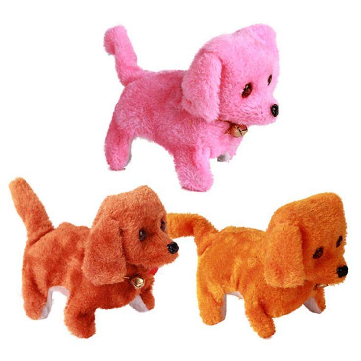 New Electronic Pet Dog Toy Battery Operated Sounding Barking Dog Plush Walking Toy Dog Stuffed Toy for Kids