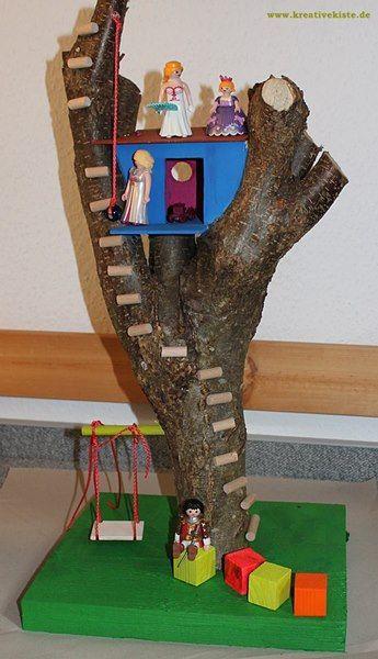 klein playmobil baumhaus selber bauen holz