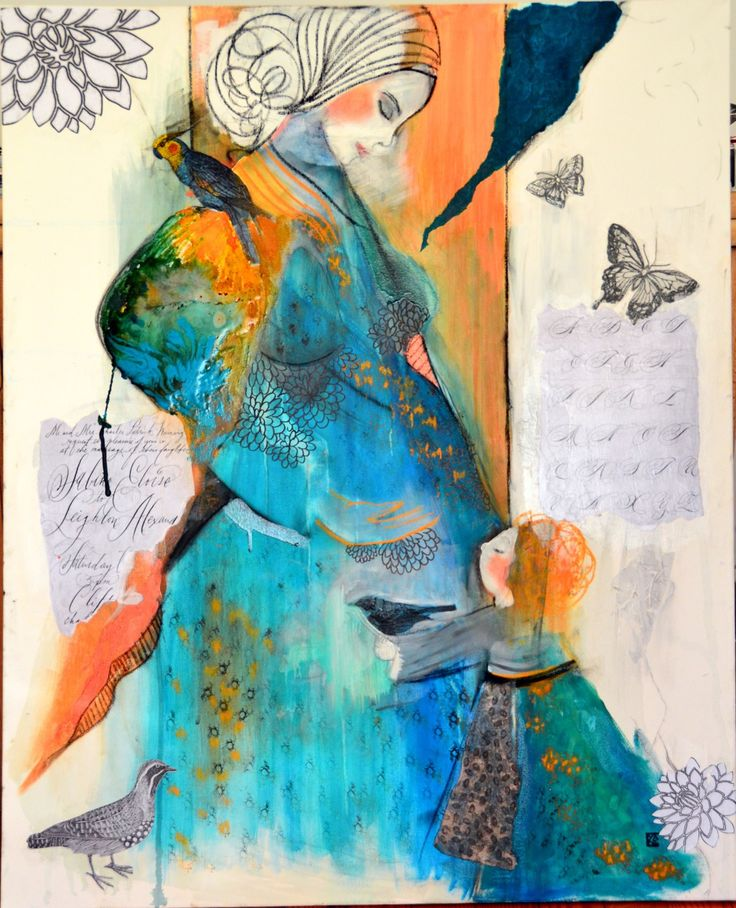 Grand tableau acrylique art contemporain original for Tableau peinture contemporain