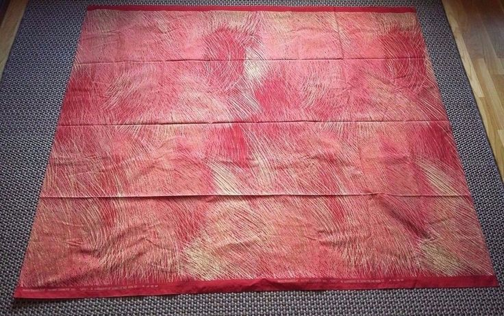 Marimekko Finland Vintage Lepo Tablecloth Red Fujiwo Ishimoto 1991 Abstract