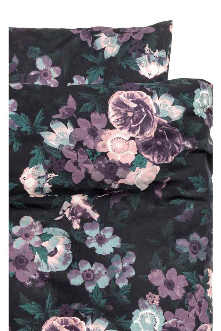 Floral-print duvet cover set - Purple/Flowers - Home All | H&M GB