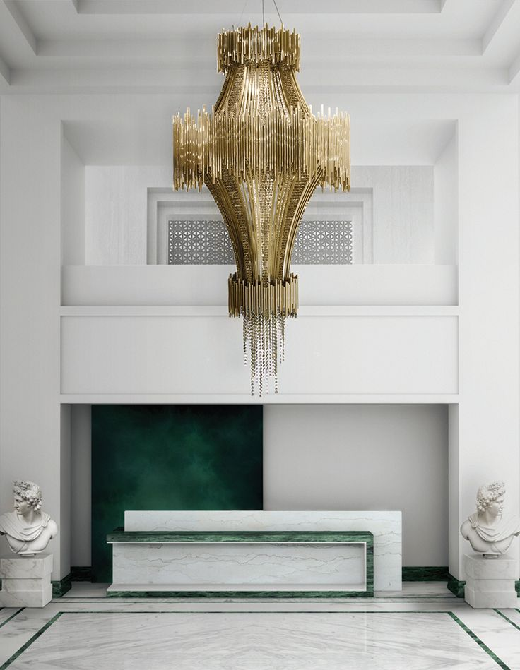 The Luxxu Scala Chandelier is the highlight in this white room.A masterpiece poetically made with the most beautiful Swarovski crystals. All the details are so unique that they have the power to create not only a perfect space, but also to get you involved in Design inspiration