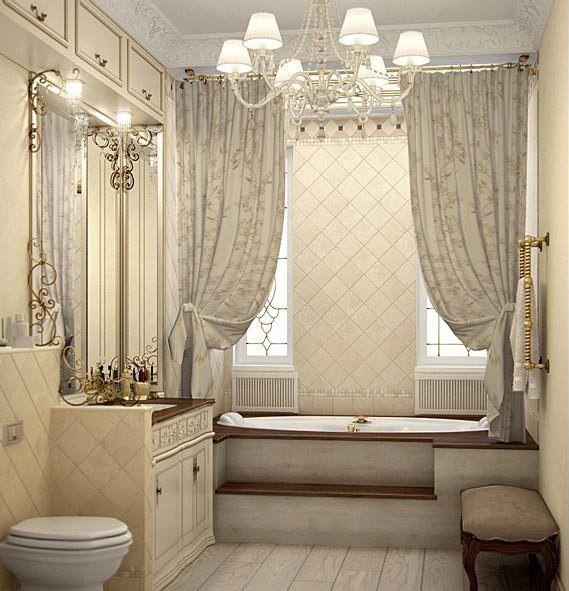 дизайн интерьера ванной комнаты в классическом стиле фото #10