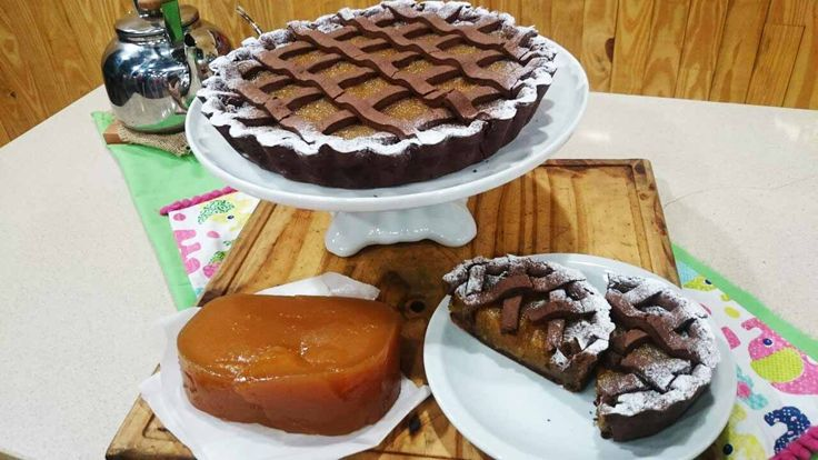 Pastafrola de batata en masa de chocolate