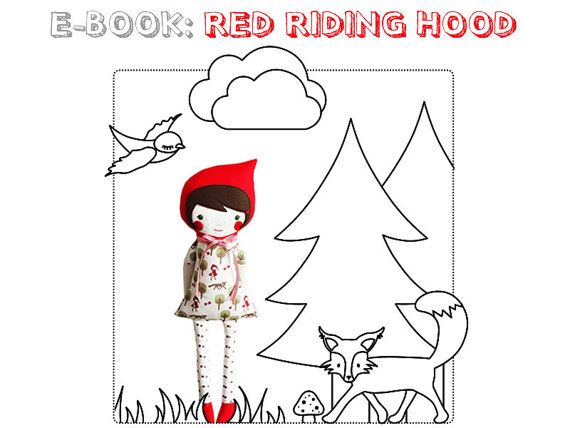 Etsy link to lovely Red Riding Hood doll tutorial for purchase.Riding Hoods, Little Red, Red Riding Hood, Dolls, Revoluzzzionari Red, Geschenke Selbstgemacht, Hoods Ebook, Red Riding Hood, Fairies Tales