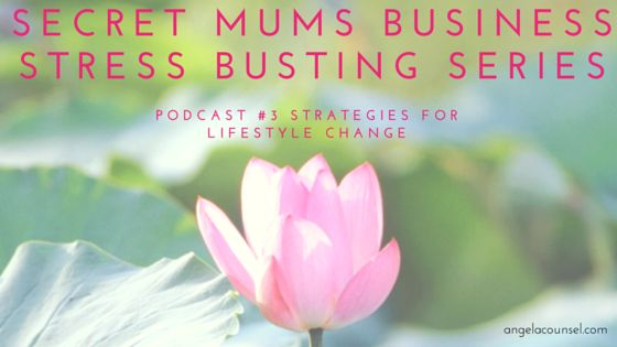 Welcome to the third podcast in the four part Secret Mums Business Stress Busting Series.  Today I am talking to you about strategies for life – what's working for you and what needs to change?I ask you to fast forward to 12 months from now and picture who you are, how you are and where you are. We talk about action you need to take so that you can't wait to meet the person you've become in a year.