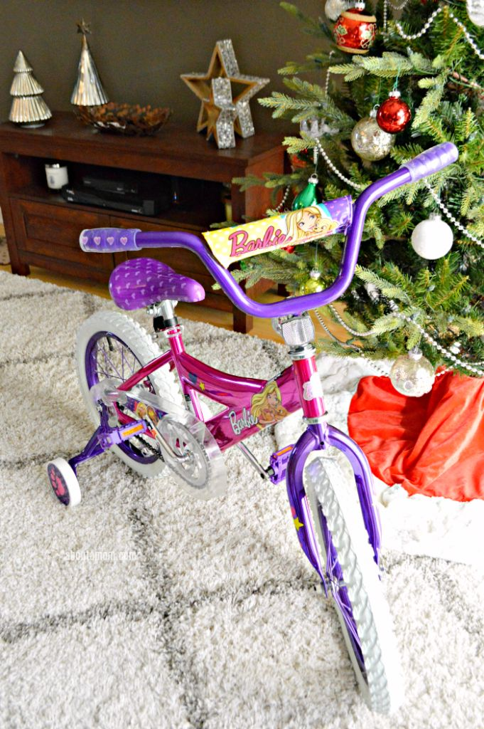 """Let her ride in style and give the gift of fun. The 16"""" Barbie Girls Bike by Dynacraft, available at Walmart, is perfect for the little girls on your holiday shopping list. #Ad #givethegiftoffun #walmart"""