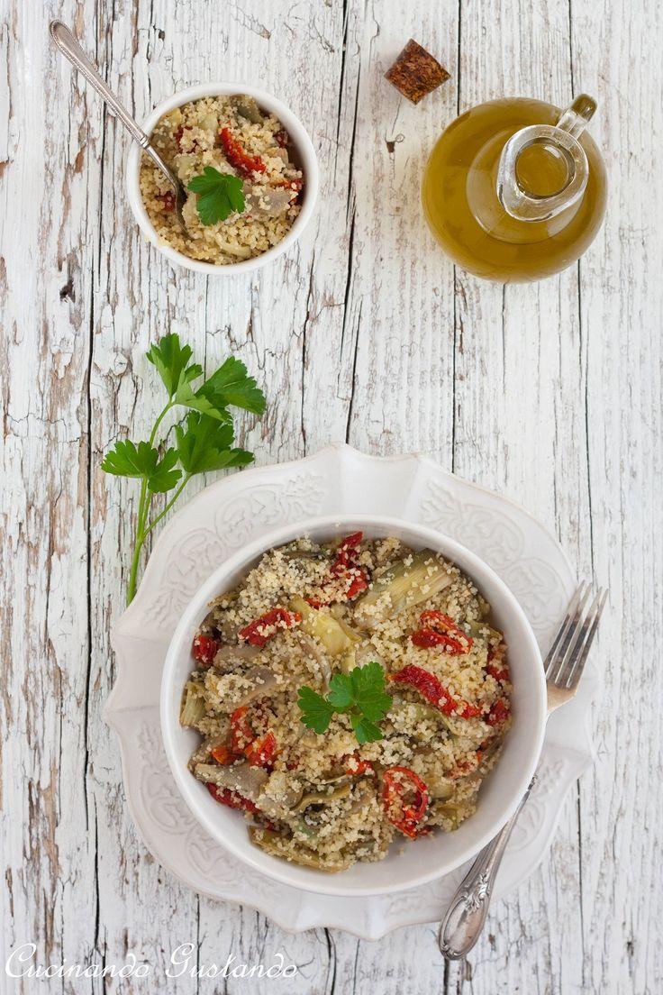 Cous cous con carciofi e pomodori secchi