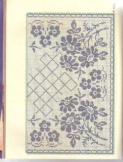 Szydełkomania: Obrusik z kwiatami