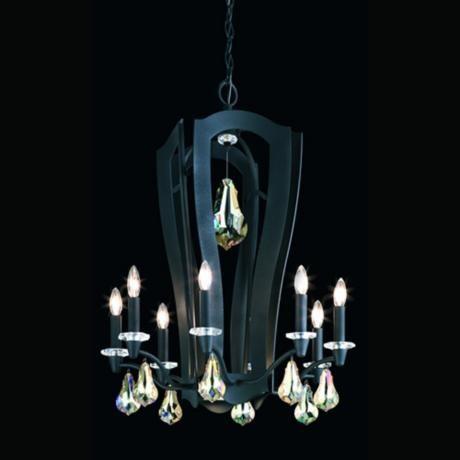 black chandelier lighting. swarovski lighting ltd includes two distinct premium consumer brands with its contemporary aesthetic and schonbek classic black chandelier