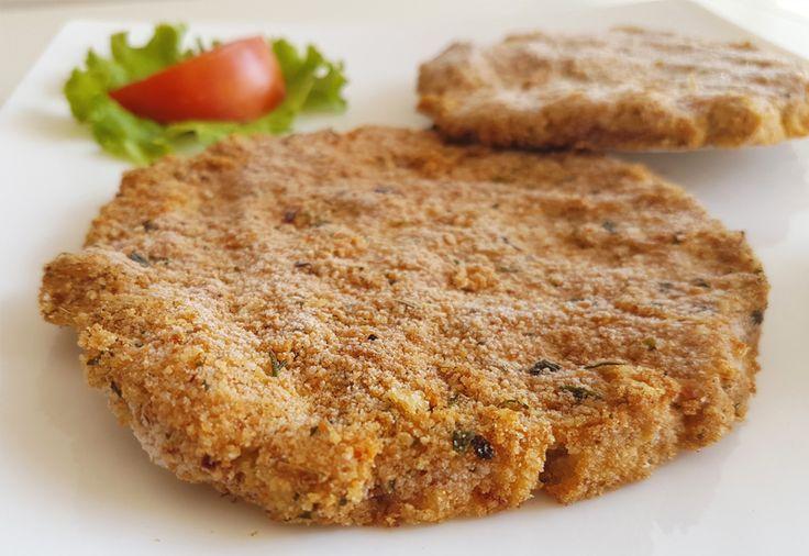 Milanesa vegana de poroto manteca sin gluten #vegan #food #recetas