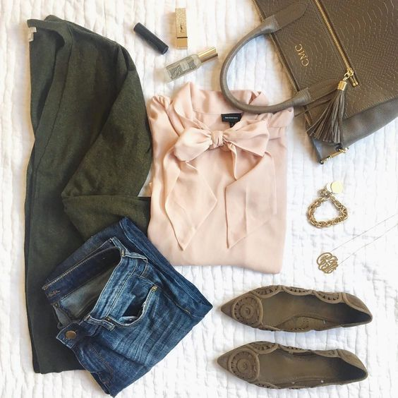Colour combo to try: Green and Blush