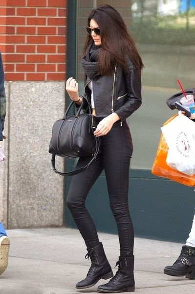 all black....Kendall in New York
