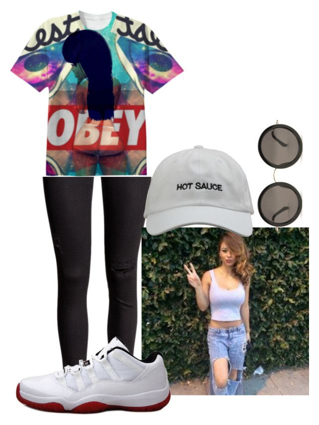 """""""Bryson Tiller Trust Issues"""" by cyberth-ts ❤ liked on Polyvore featuring OBEY Clothing, Retrò and The Row"""