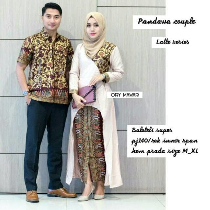 Model Gamis Kombinasi Couple 7