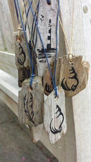 Raw necklace 'Ik hout van Ameland' #Ameland #waddeneiland
