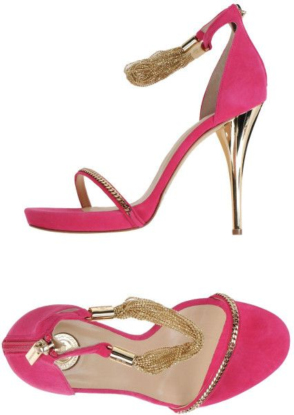 Elisabetta Franchi | Pink Sandals | Lyst