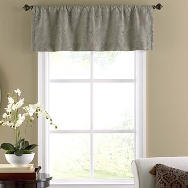 jcpenney curtains for living room annika rod pocket tailored valance jcpenney living 20341