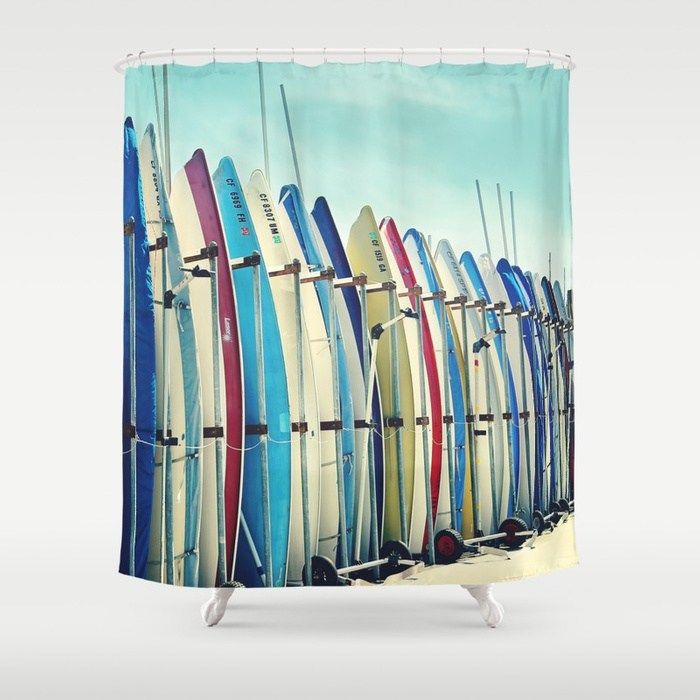 Buy California Surfboards Showercurtain By Sylviacookphotography