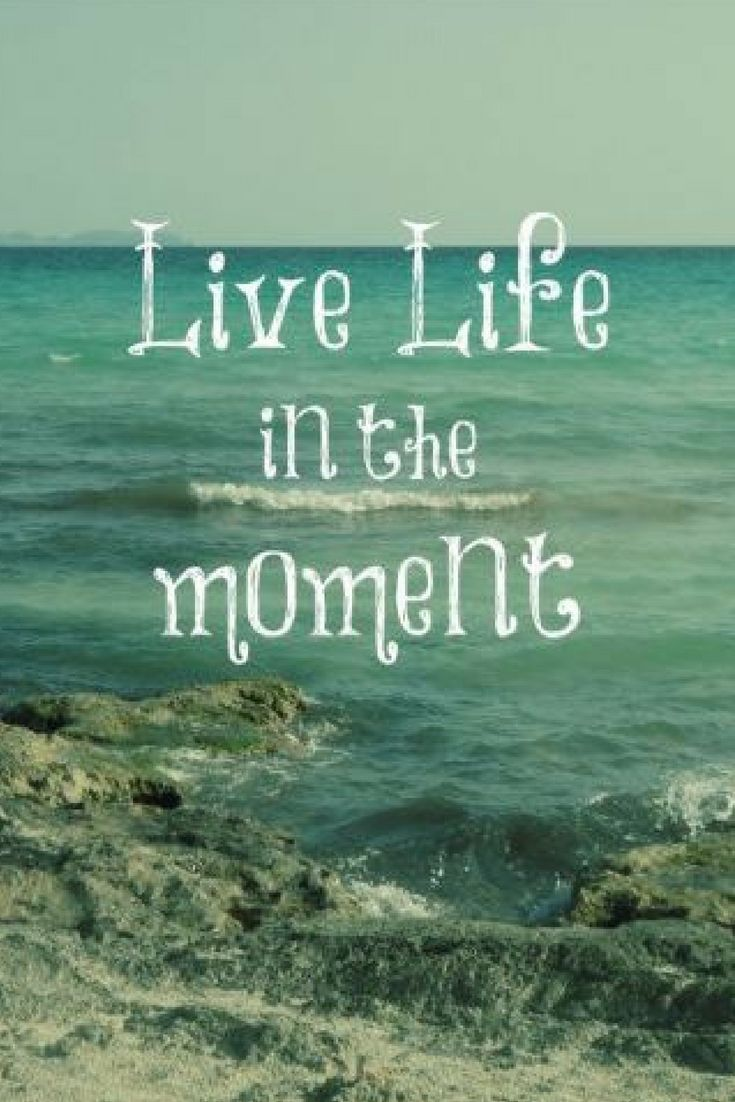 Live Life in the Moment Quote with Beach Theme Postcard ad