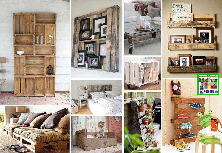 Hoje em dia estamos criando móveis com paletes para toda a casa. Desde a área interna como externa. Estou trazendo as imagens que são publ...