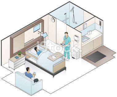 Hospital Room Illustration Royalty Free Stock Vector Art Illustration