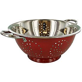 Red colander $9.99. Silver is same price, but different shape