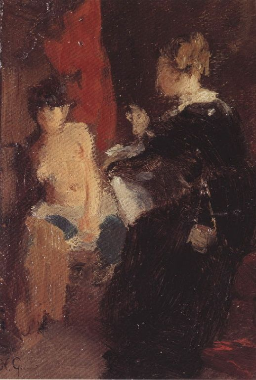 .:. Γύζης Νικόλαος – Gyzis Nikolaos [1842-1901] Ο Έρως και η ζωγράφος