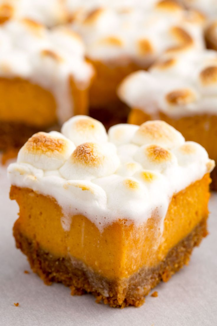 Sweet Potato Marshmallow Bars  - Delish.com