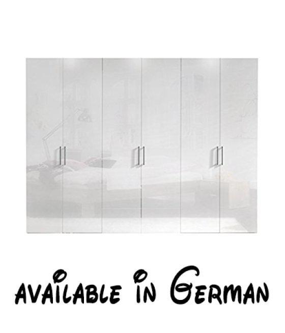 B015CPBIHQ  Express Möbel Kleiderschrank 6-türig 300 cm Weiß - schlafzimmerschrank weiß hochglanz