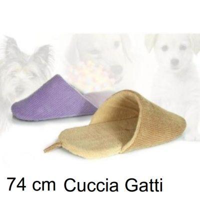 Acquisto Online Articoli per Animali - EtnaPet.it - CUCCIA PER GATTI LETTINO FORMA PANTOFOLA 74 CM