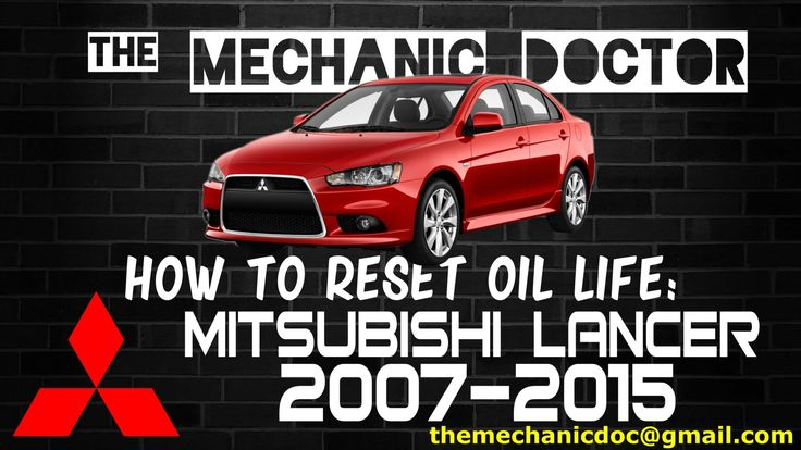 This video will show you step by step instructions on how to reset your oil life indicator on a Mitsubishi Lancer 2007-2015.