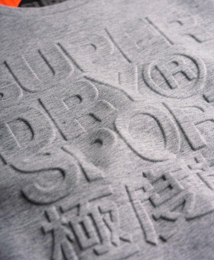 Superdry Gym Tech Embossed Crew Sweatshirt - Men's Tops