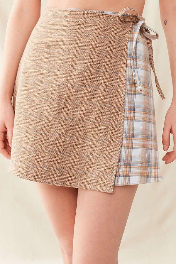 Vine Evan Picone Brown Plaid Flannel Wrap Skirt In 2018 My Posh Picks Skirts And