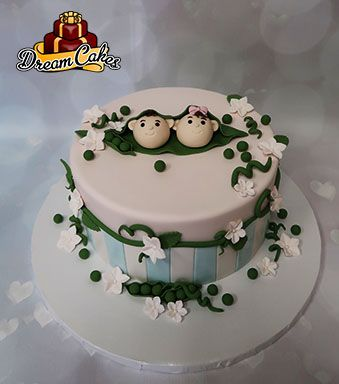Two Peas In A Pod Baby Shower Cake By Dream Cakes Chicago Special