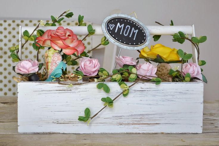 """Attic Lace: DIY Mother's Day Gift :""""Flower"""" Basket"""
